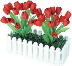 【新春フラワー装飾】 ウインドウプランター チューリップレッドイメージ